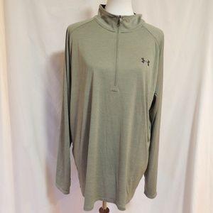Under Armour Heat Gear Loose 3/4 Zip Shirt-Mens
